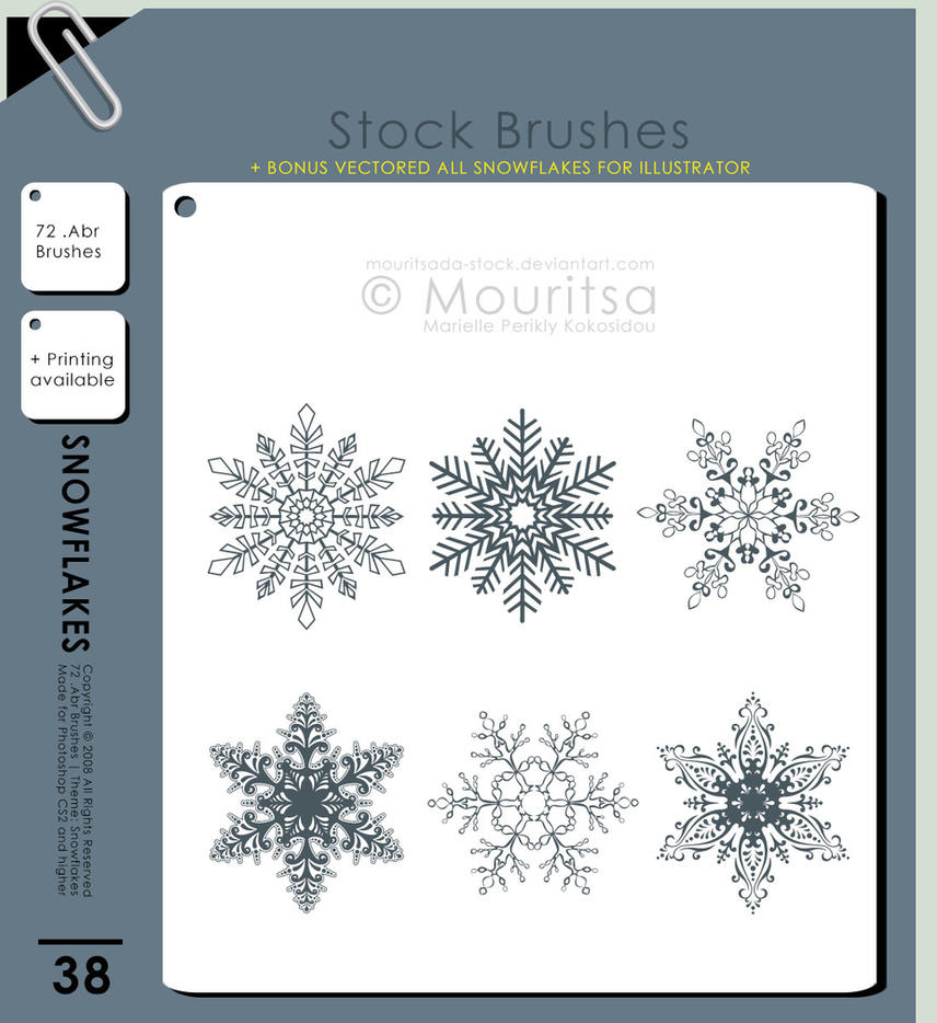 Brush Pack - Snowflakes by iMouritsa