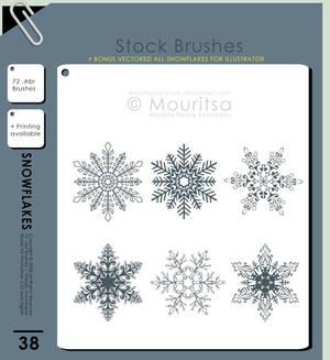 Brush Pack - Snowflakes