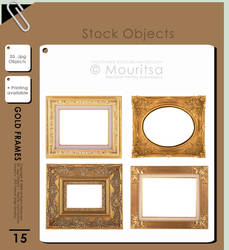 Object Pack - Gold Frames by iMouritsa