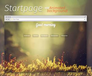 Spirit Startpage - animated background!