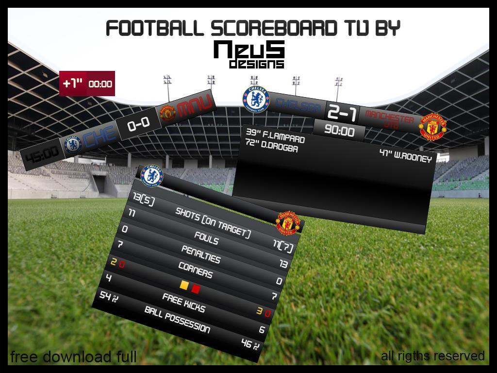 cf scores foorball on tv