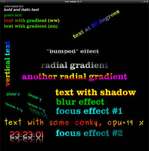 Text widget for Conky 1.42