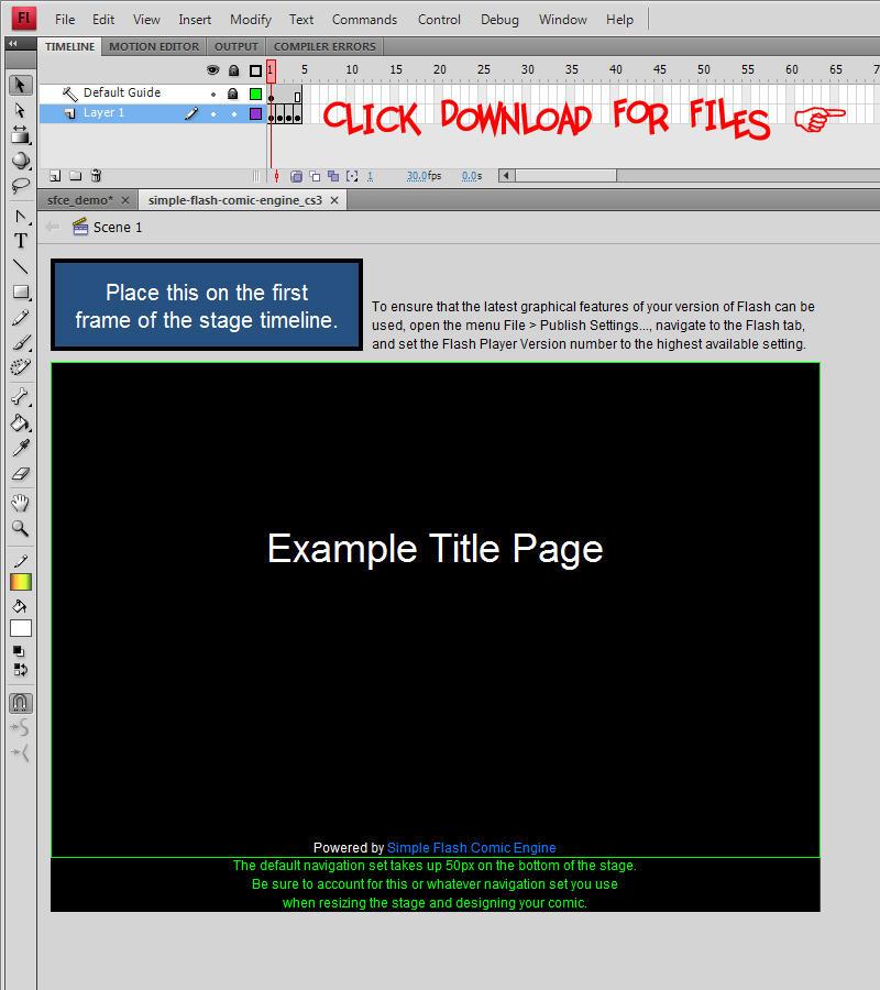 Simple Flash Comic Engine v1.1 by HyraxAttax