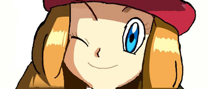 Pokemon: Serena Winking