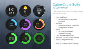 CyberCircle Suite for Rainmeter