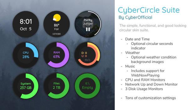 CyberCircle Suite for Rainmeter