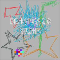 Drawings 2.0 Brushes by Laaloadictedphoto