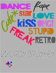 Words Brushes
