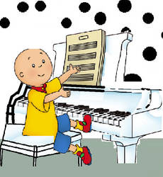 Caillou playing his piano animation #3