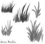 Grass Watercolor Brushes