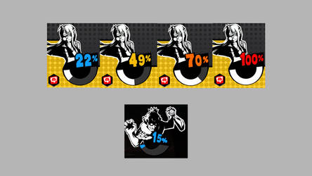 Persona 5 Palace Alert Battery for Rainmeter by elithelost