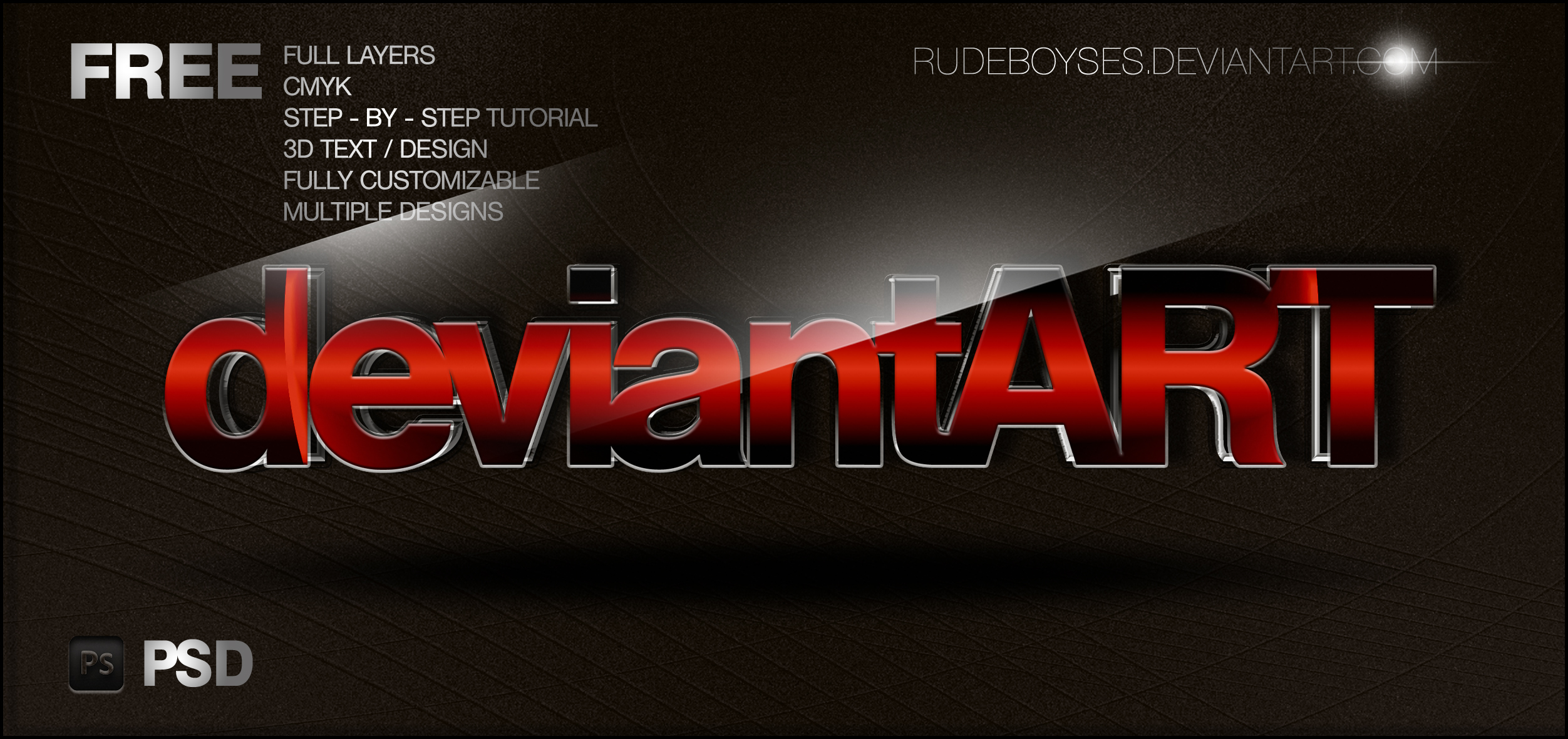 ... Free 3D Text PSD Graphics by RudeBoySes