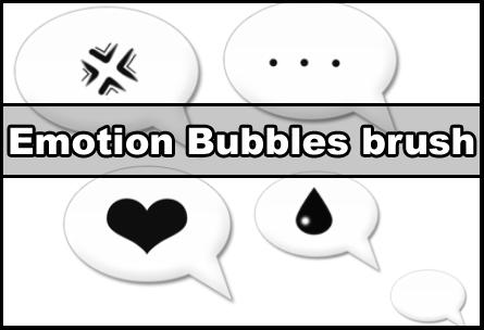 Emotion bubbles brush by Faeth-design