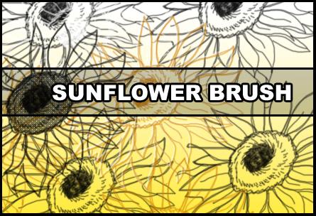 Sunflower brush