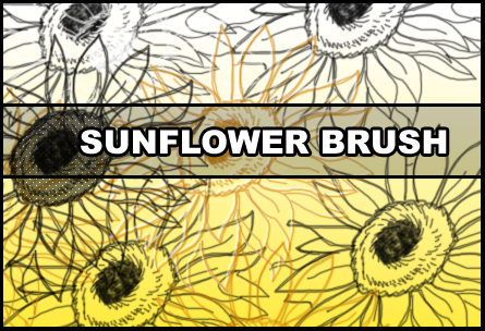 Sunflower brush by Faeth-design