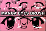 Manga eyes brush