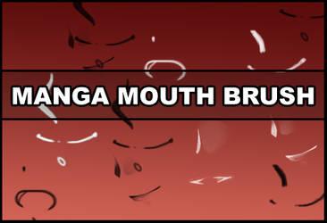 Manga mouth brush
