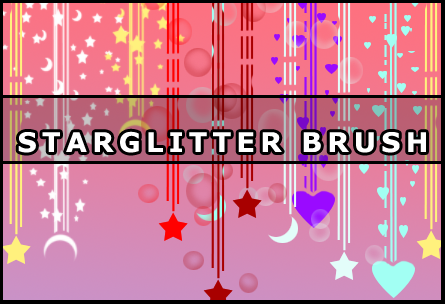 Star glitter brush by Faeth-design
