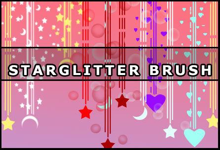 Star glitter brush