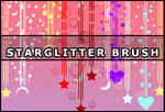 Star glitter brush