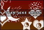 Star - like brush
