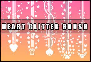 Heart glitter brush by Faeth-design