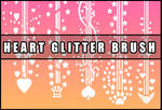 Heart glitter brush