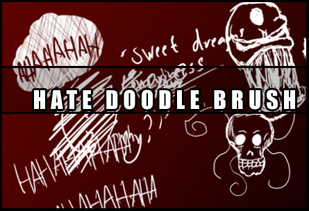 Hate doodle brush