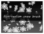 Non-realism snow brush