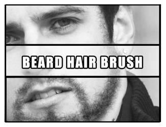 Beard hair brush