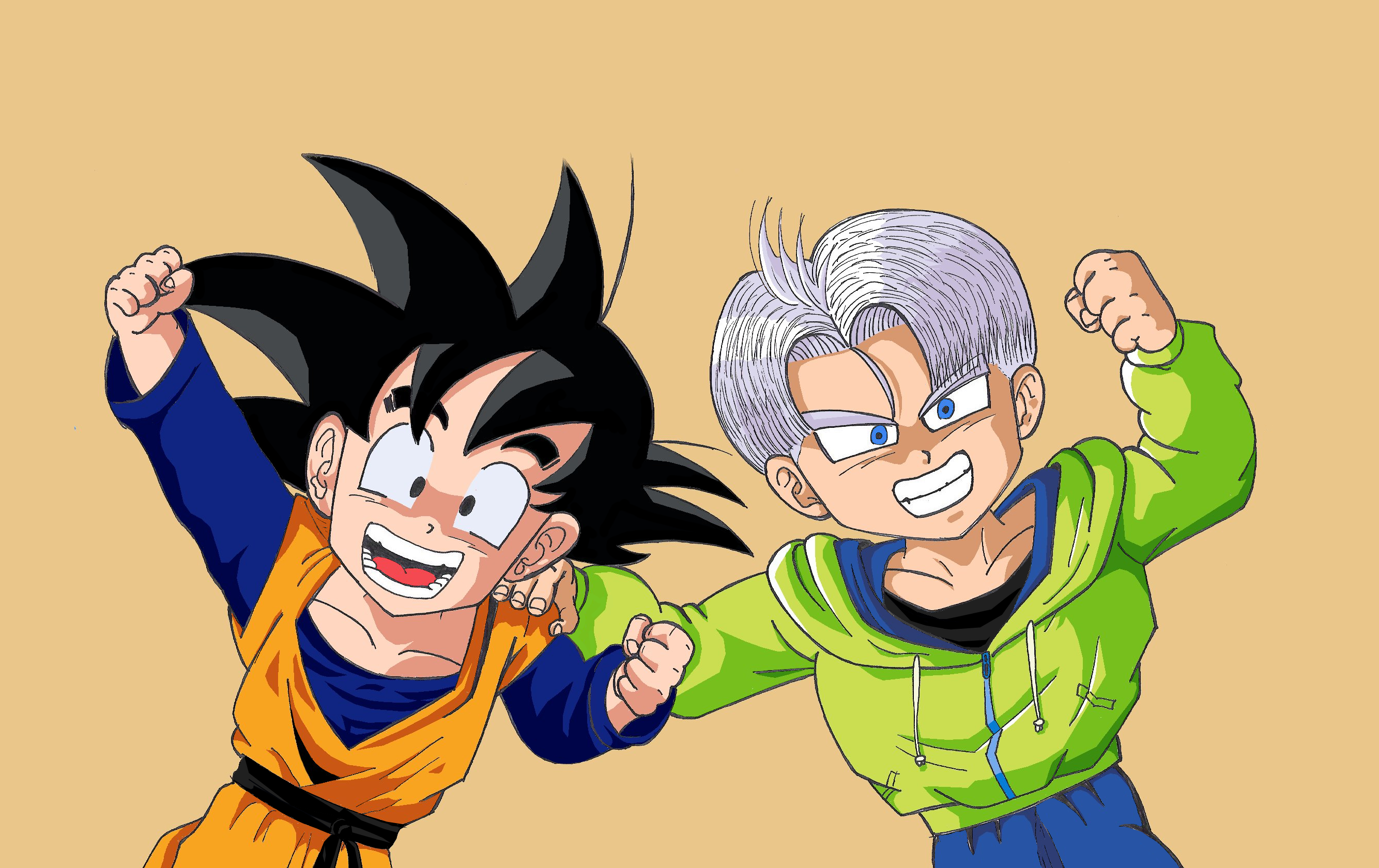 Son Goten And Trunks Color Version By Przemekw On Deviantart