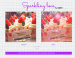 Sparkling Love |Psd coloring