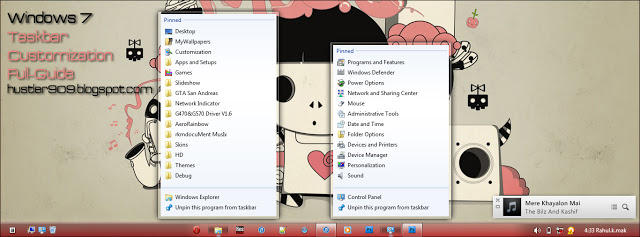 Customizing Windows 7 Taskbar ~ Full Guide