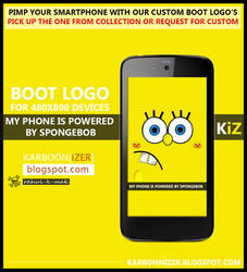 Spongebob boot logo for 480x800 Android Smartphone