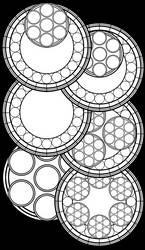 Stained Glass Template Six-Pack by Akili-Amethyst