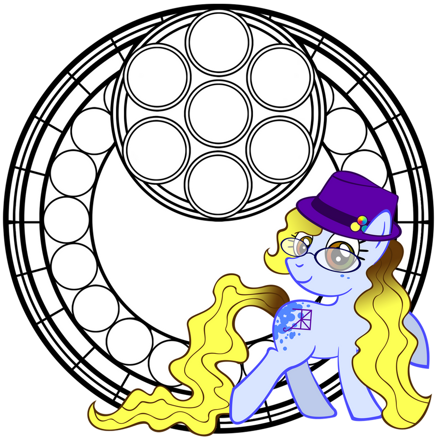 MLP Stained Glass Coloring Book by Akili-Amethyst on DeviantArt