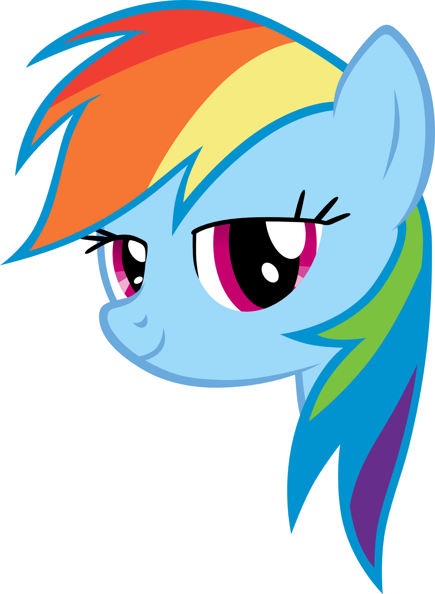 Floating Dashie Head by cthulhuandyou