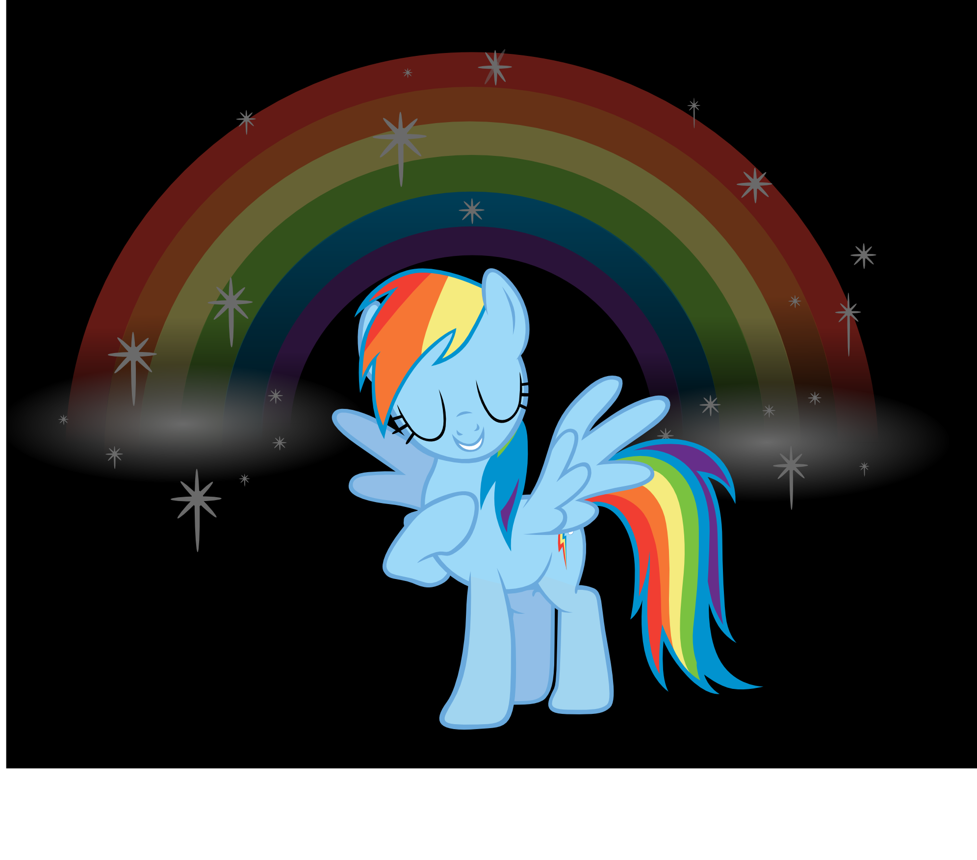 They don't call her Rainbow and Dash for nothing