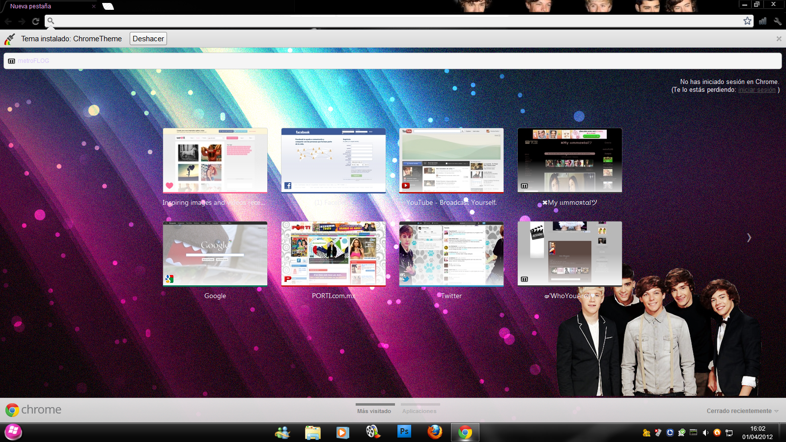 Tema Google Chrome-One direction by PeqkeVega on DeviantArt