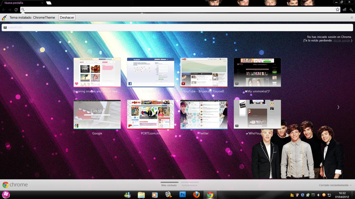 Google chrome themes gallery 2012 - Tema Google Chrome One Direction By Peqkevega