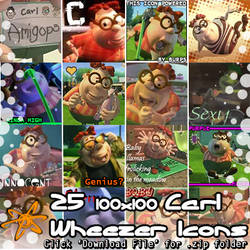 Jimmy Neutron - 25 Carl Wheezer Icons (.zip pack) by Absurd--Reality