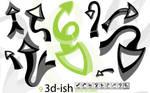 3D-ish Arrow Brushes