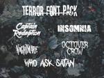Terror Font Pack