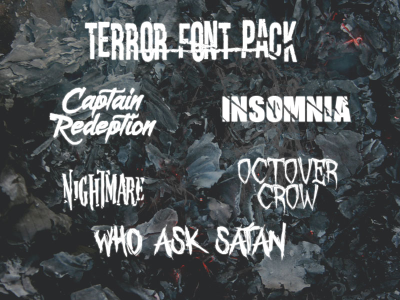 Download Terror Font Pack by vxcky on DeviantArt