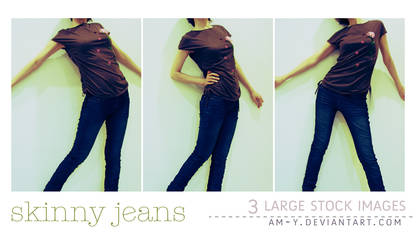 Stock - Skinny Jeans by am-y