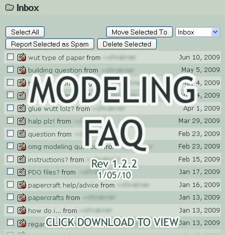 Modeling FAQ by billybob884