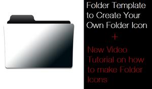 Folder Template (.PSD) + VIDEO TUTORIAL