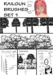 To Aru Kagaku no Railbrush Set 1 (manga studios 5)