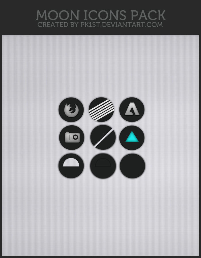 Moon icons pack by pk1st