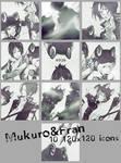 Katekyo Hitman Reborn! Mukuro and Fran icon set